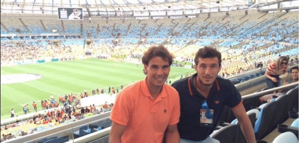 No ano passado, antes do início do Aberto do Rio, os dois estiveram juntos no Maracanã