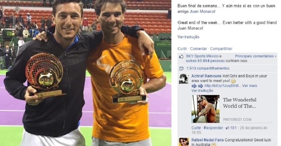 No início deste ano, Nadal e Mónaco ganharam o título da chave de duplas em Doha