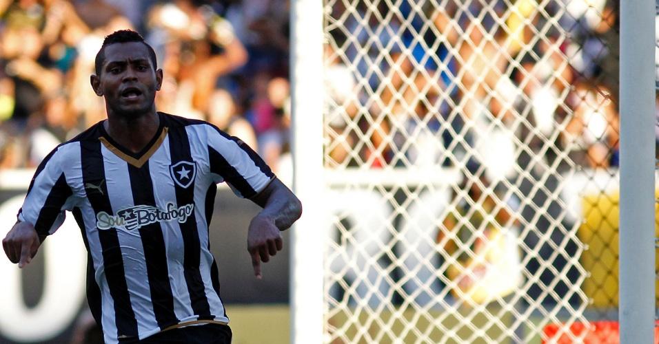 Jobson comemora seu gol imitando o português Cristiano Ronaldo no Engenhão