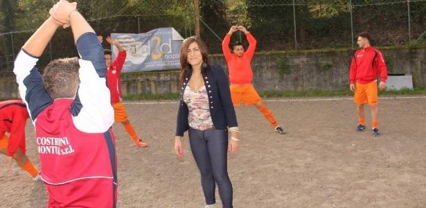 Marina Rinaldi é técnica do San Michele Rufoli, time da quarta divisão italiana