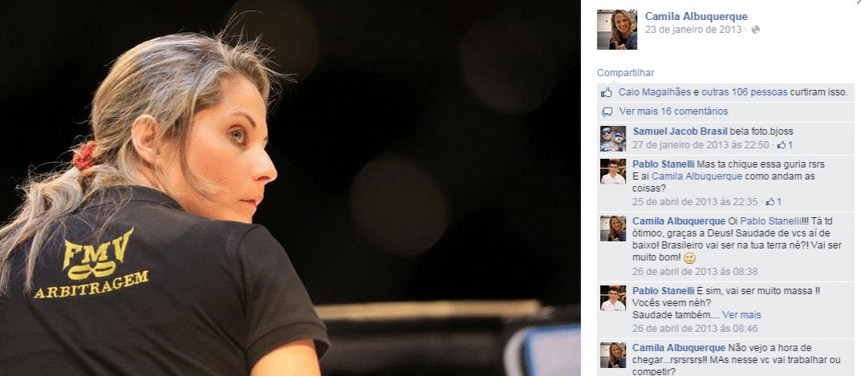 Camila Albuquerque é a primeira árbitra brasileira no UFC
