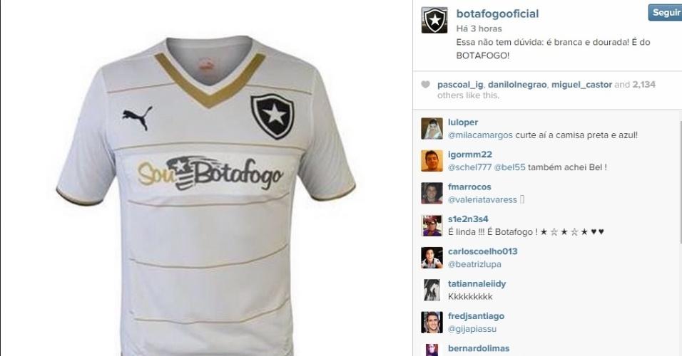 O Botafogo brincou com a polêmica da cor do vestido nesta sexta-feira