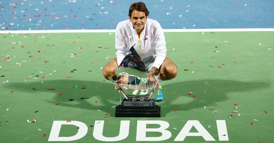 Roger Federer conquista o heptacampeonato no ATP 500 de Dubai