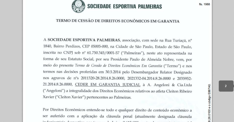 Palmeiras ofereceu direitos de Cleiton Xavier em ação por dívida de Wesley