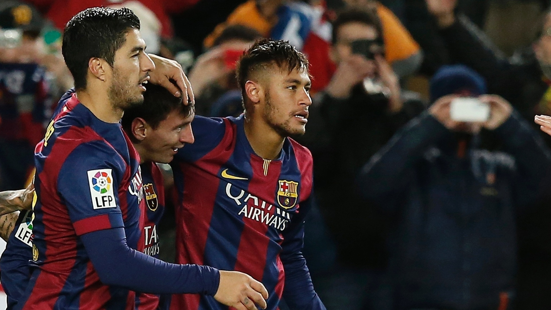 Cinco vitórias do Barcelona tiveram a marca conjunta do trio Messi, Neymar e Suárez