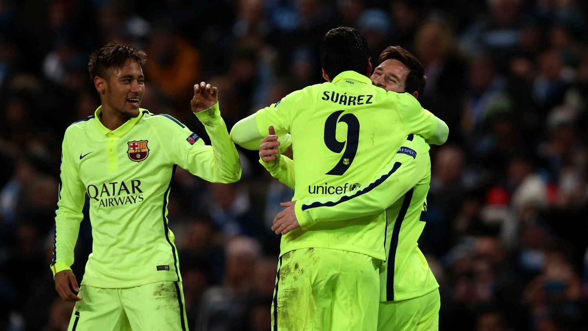 Messi, Neymar e Suárez já jogaram juntos em 21 partidas do Barcelona nesta temporada