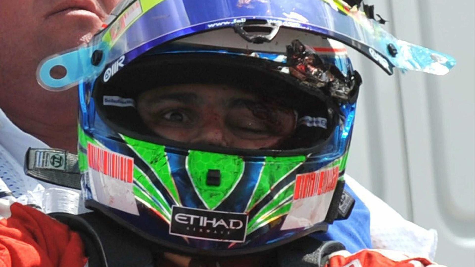 Em 2009, Felipe Massa, então piloto da Ferrari, foi atingido por uma mola a 280 km/h durante os treinos do GP da Hungria