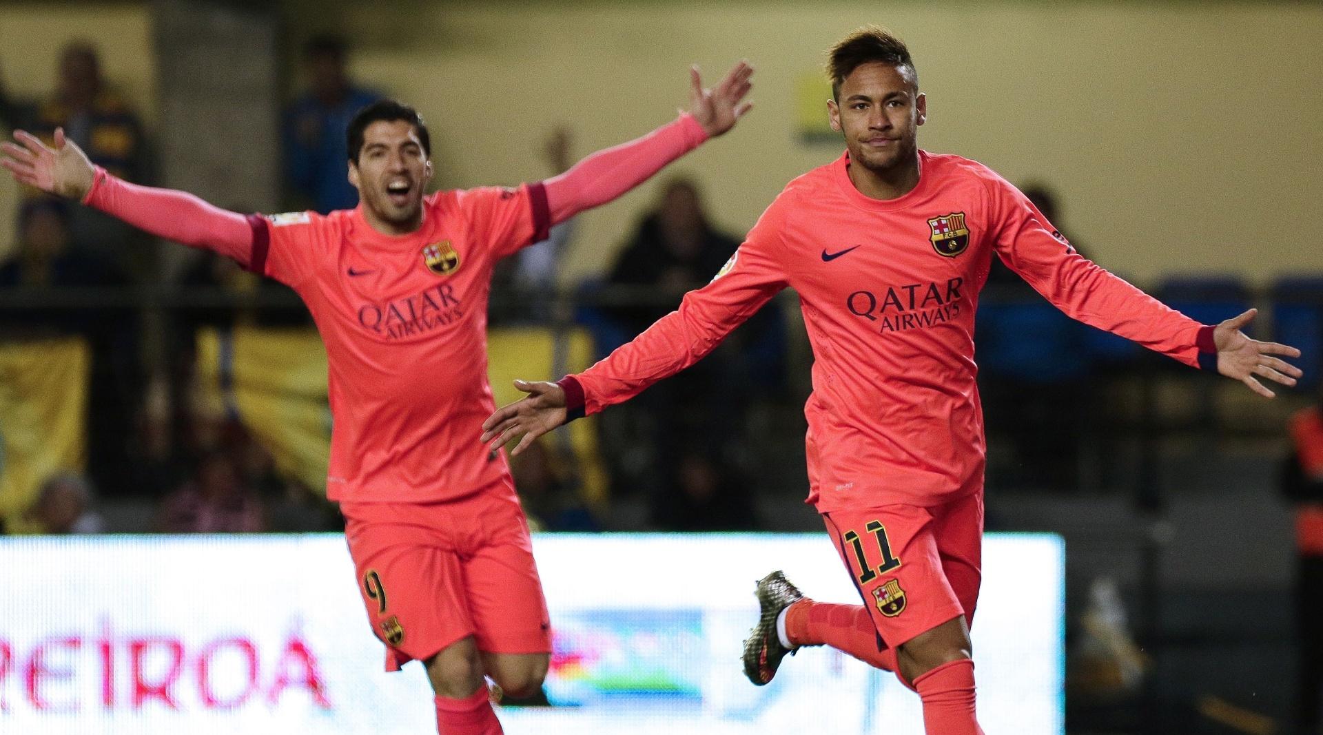 Neymar comemora seu gol pelo Barcelona na Copa do Rei