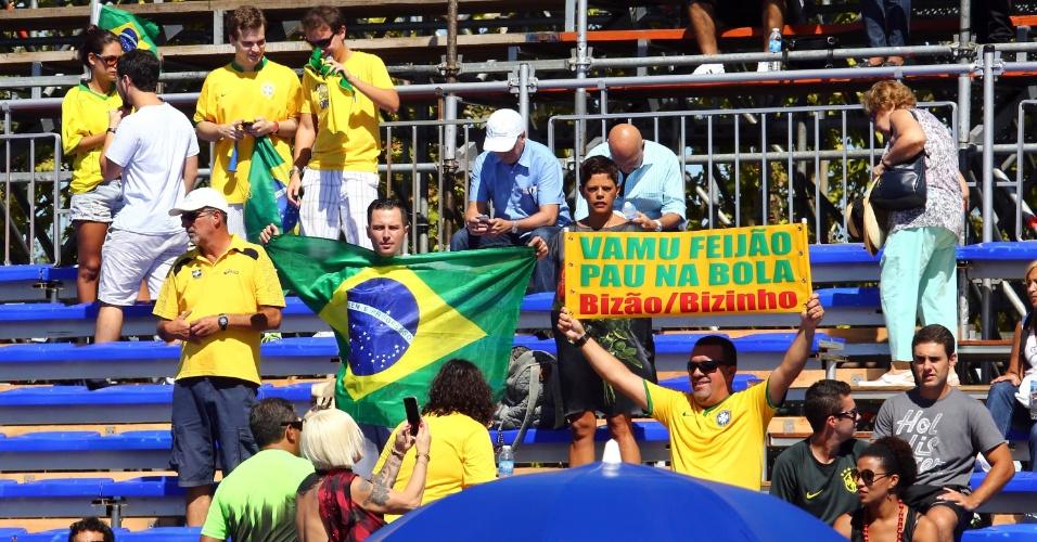 Familiares e amigos de Feijão foram a Buenos Aires apoiar o número 1 do Brasil