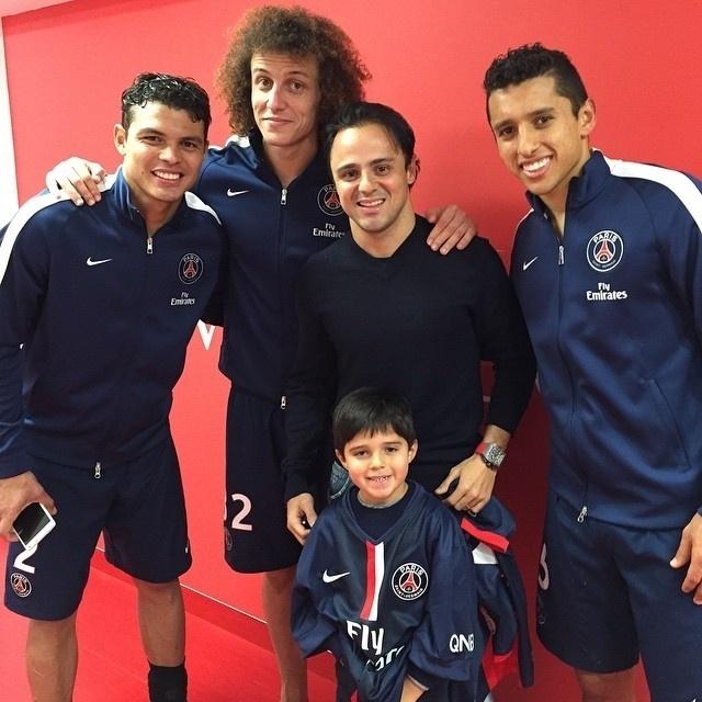 Massa foi acompanhar a partida entre Chelsea e PSG, pela Liga dos Campeões