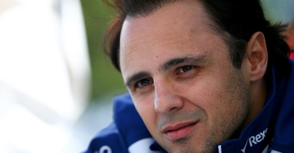 Felipe Massa concede entrevista no GP da Austrália de 2015