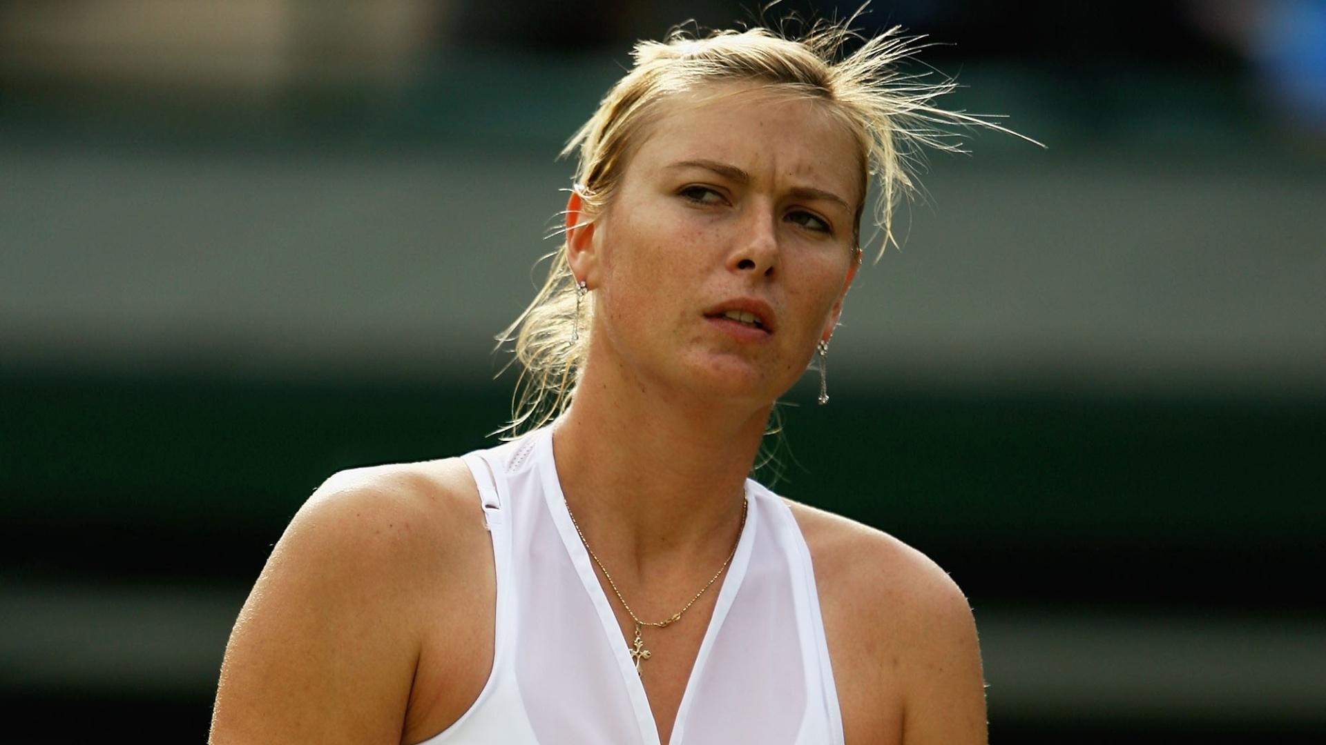 A russa Maria Sharapova apareceu de shorts em Wimbledon de 2008