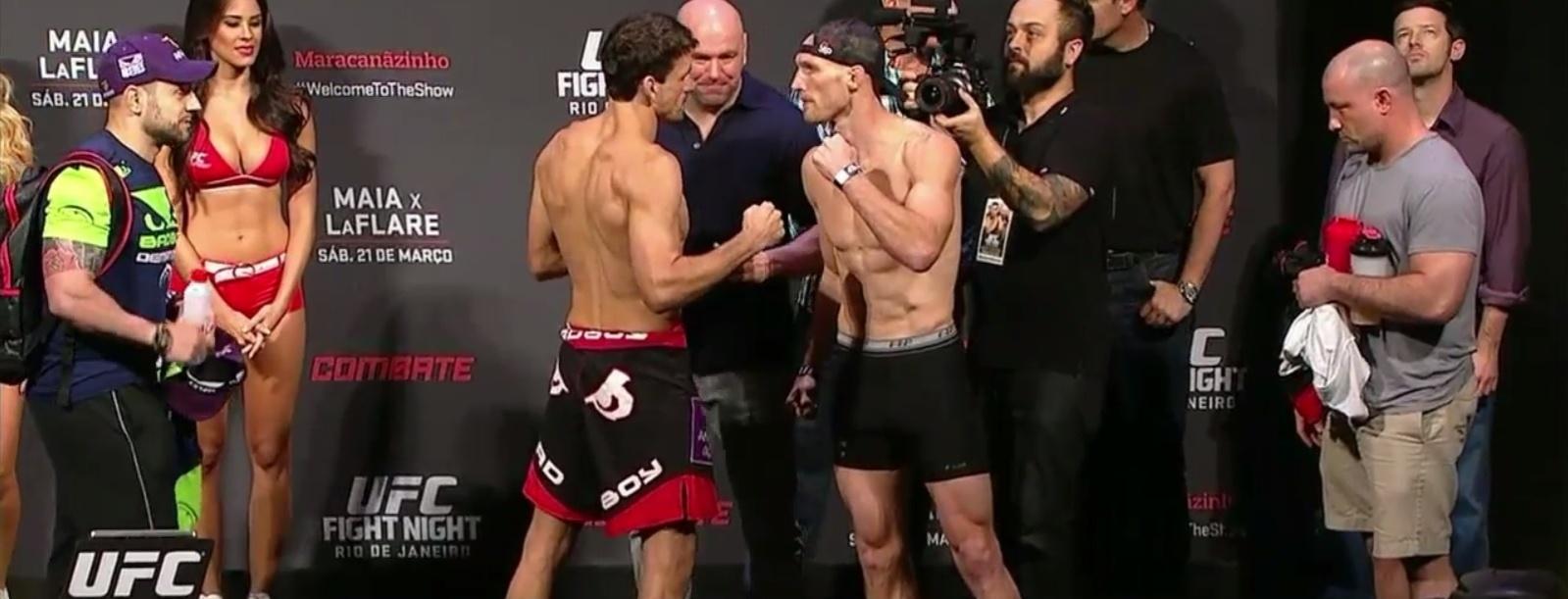 Demian Maia e Ryan LaFlare se encaram na pesagem do UFC Rio