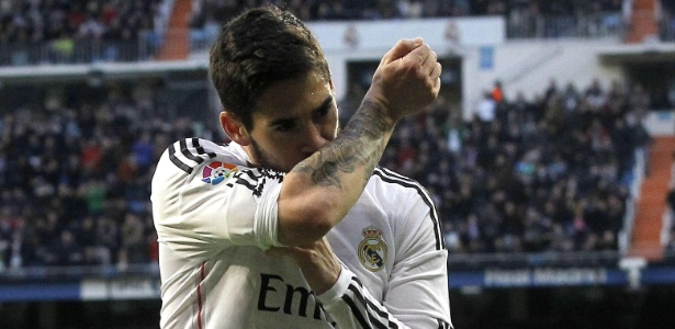 Isco durante jogo do Real Madrid