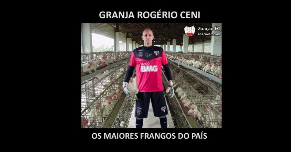A falha de Rogério Ceni no primeiro gol do Palmeiras não foi perdoada