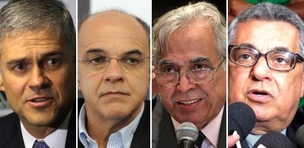 Peter (e) e Bandeira travam duelo nos bastidores com Eurico e Rubens Lopes (d)
