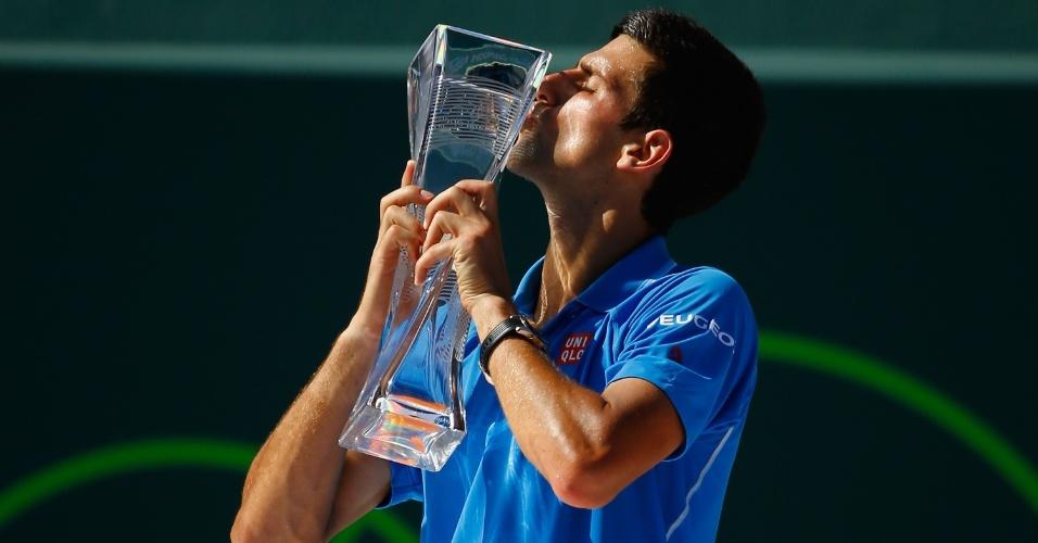 Novak Djokovic conquistou em Miami seu terceiro título na temporada e o 51º da carreira