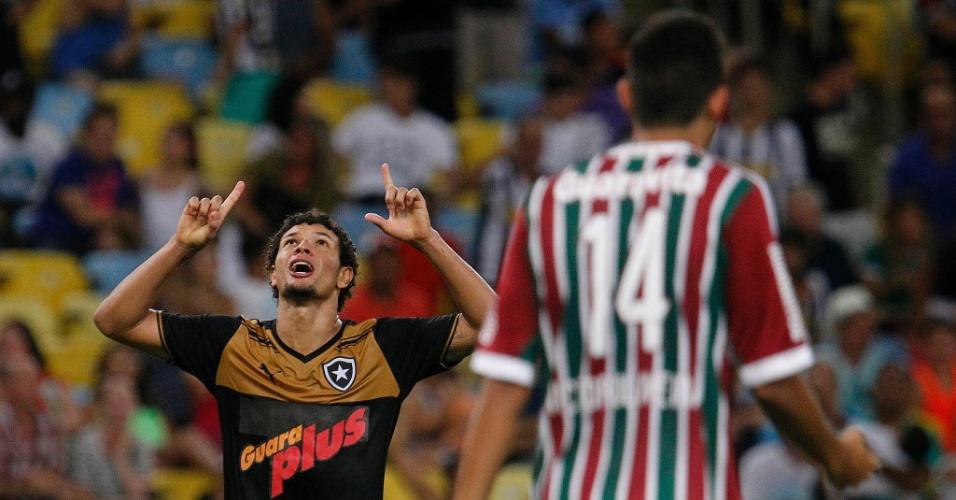 Willian Arão comemora após diminuir o placar para o Botafogo na partida contra o Fluminense, válida pelo Carioca