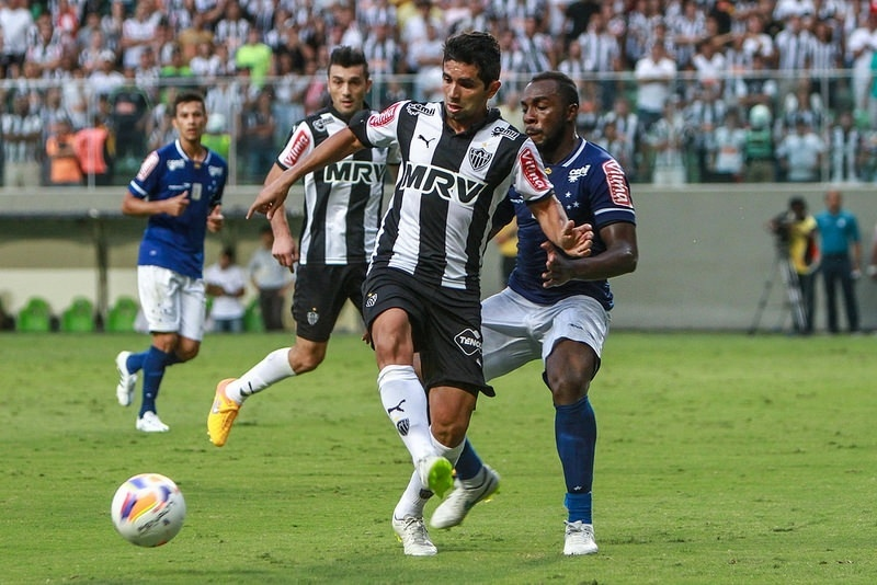 Guilherme suportou bem os 90 minutos em campo no clássico com o Cruzeiro