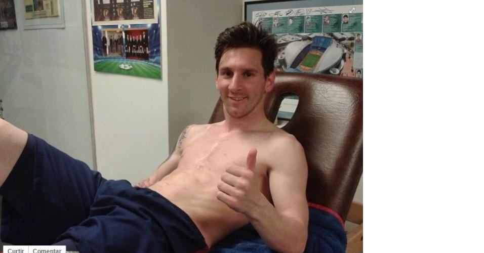 Messi posta foto no Facebook comemorando os 400 gols pelo Barcelona