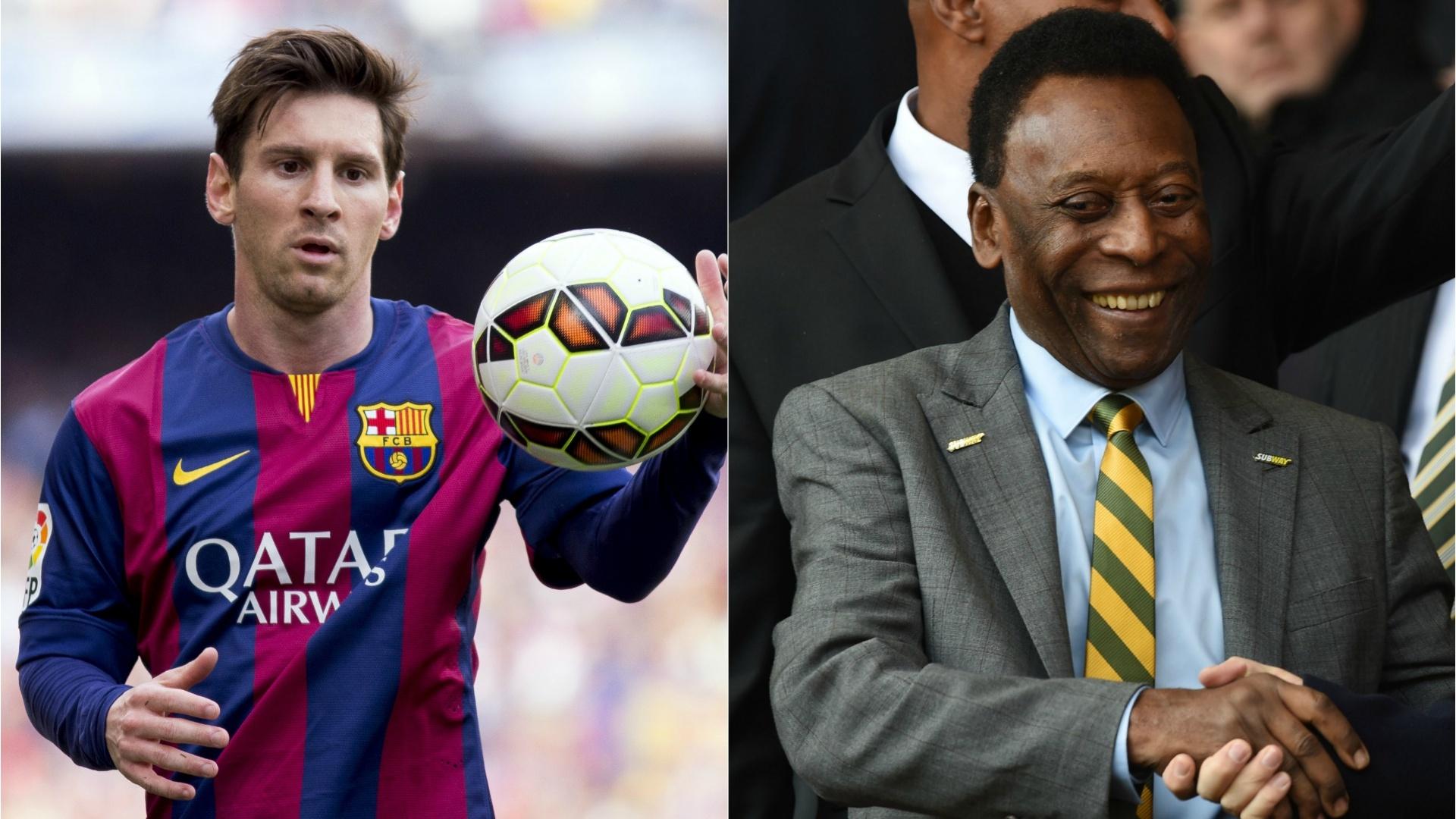 Messi e Pelé estão entre os maiores goleadores da história do futebol