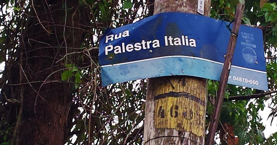Rua Palestra Itália fica no extremo sul da capital paulista