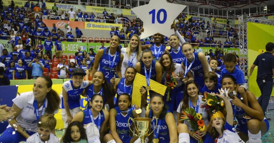 Rexona/Ades venceu o Molico/Nestlé por 3 sets a 0 e conquistou a Superliga