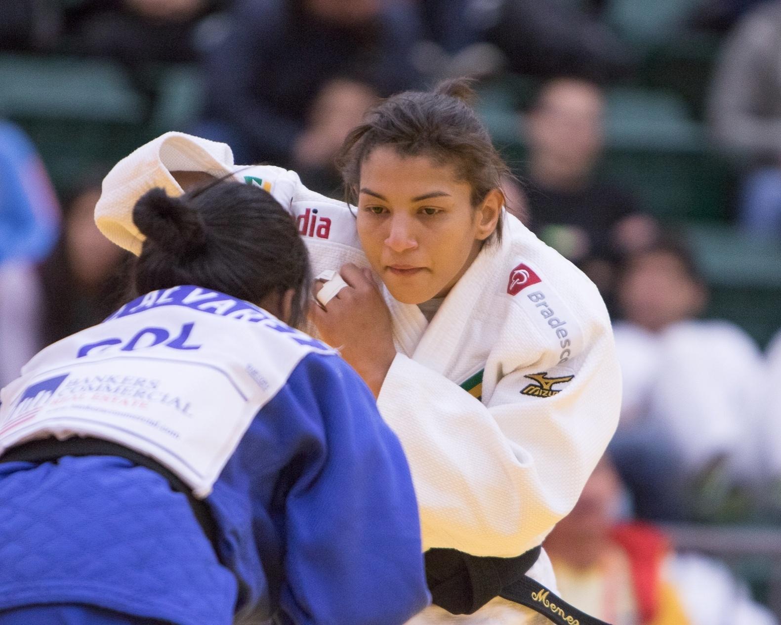 Sarah Menezes durante o Pan de Edmonton, em que ela encerrou jejum de dez meses sem vencer um torneio