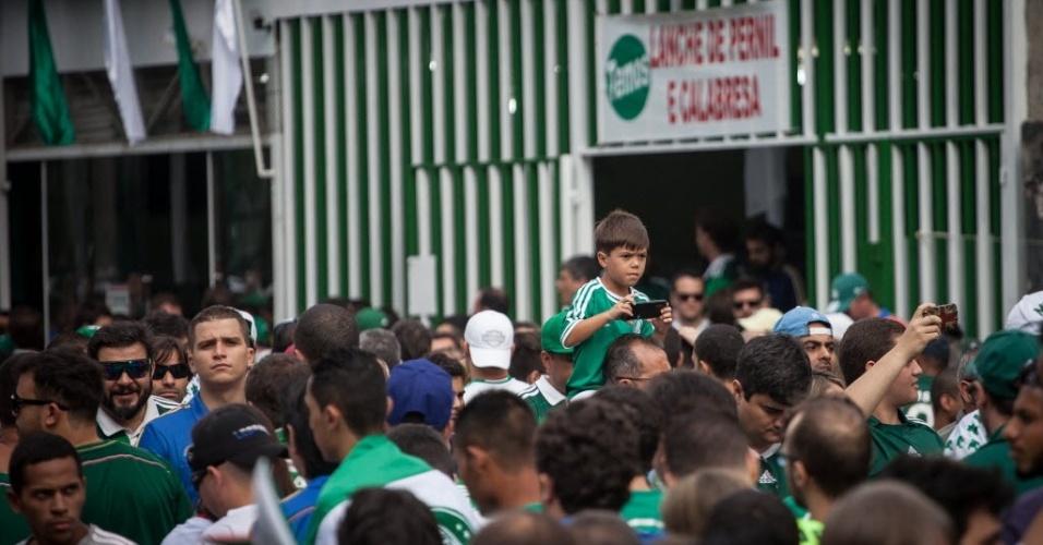 Torcida do Palmeiras marca presença no Allianz Parque para a final contra o Santos