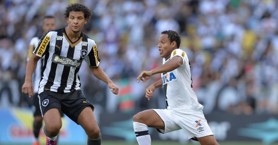Willian Arão e Marcinho em ação na partida Vasco e Botafogo, válida pela final do Campeonato Carioca