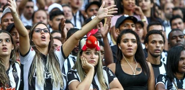 Torcida do Atlético-MG enche o Mineirão na manhã deste domingo, pela nona rodada do Brasileirão