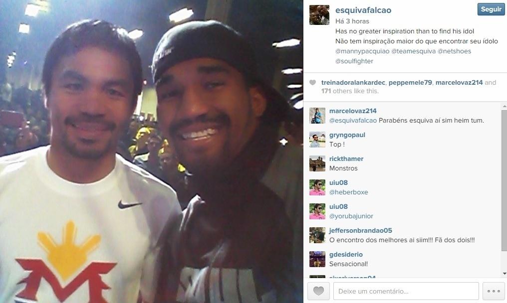 Esquiva em selfie com Pacquiao