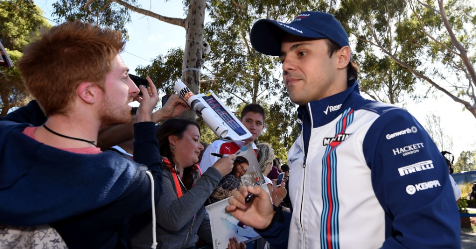 Felipe Massa atende fãs na Austrália