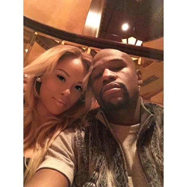 Doralie Medina não se cansa de postar fotos em redes sociais com o namorado Floyd Mayweather