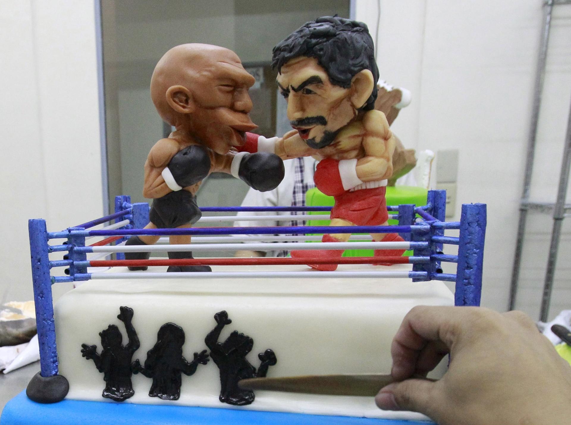 Nas Filipinas, luta entre Floyd Mayweather Jr. e Manny Pacquiao virou bolo