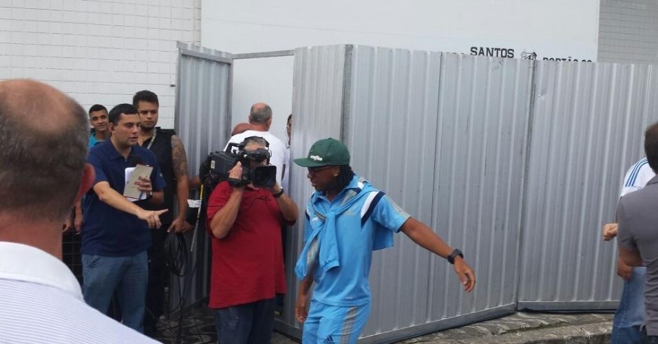 Arouca chega à Vila Belmiro para a decisão entre Santos x Palmeiras