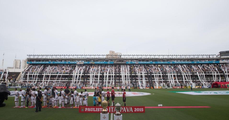 Jogadores do Palmeiras se atrasaram para a execução do hino nacional antes da final