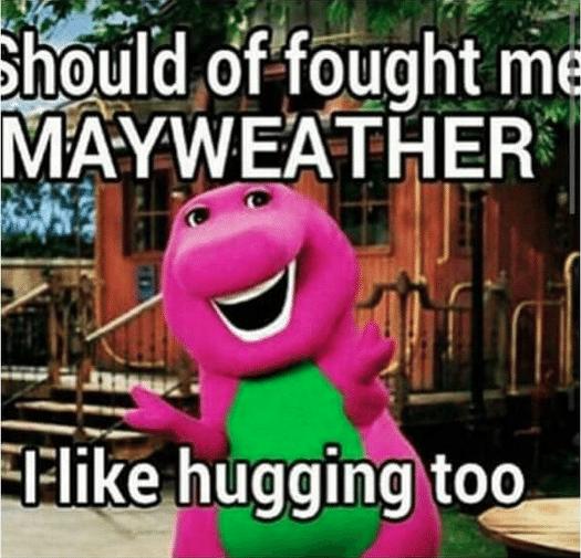 Mayweather recebeu um convite do personagem Barney
