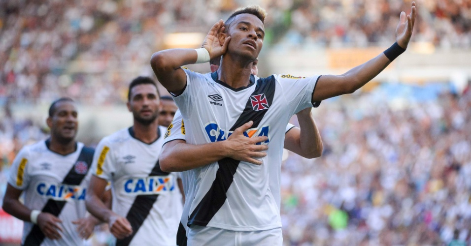 Rafael Silva comemora gol do Vasco contra o Botafogo na final do Estadual do Rio