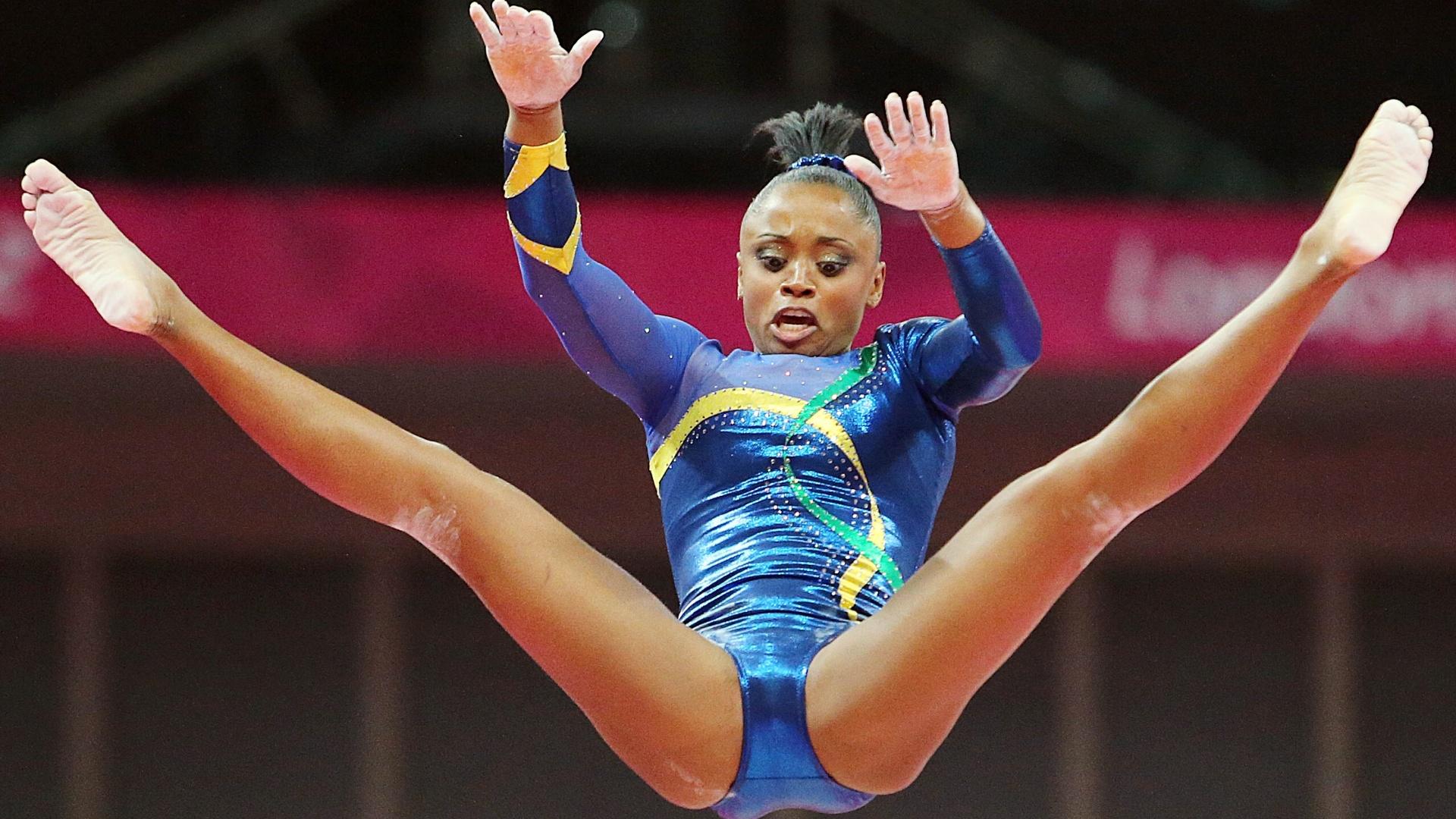 Daiane Dos Santos nos Jogos Olímpicos de Londres, sua última competição oficial