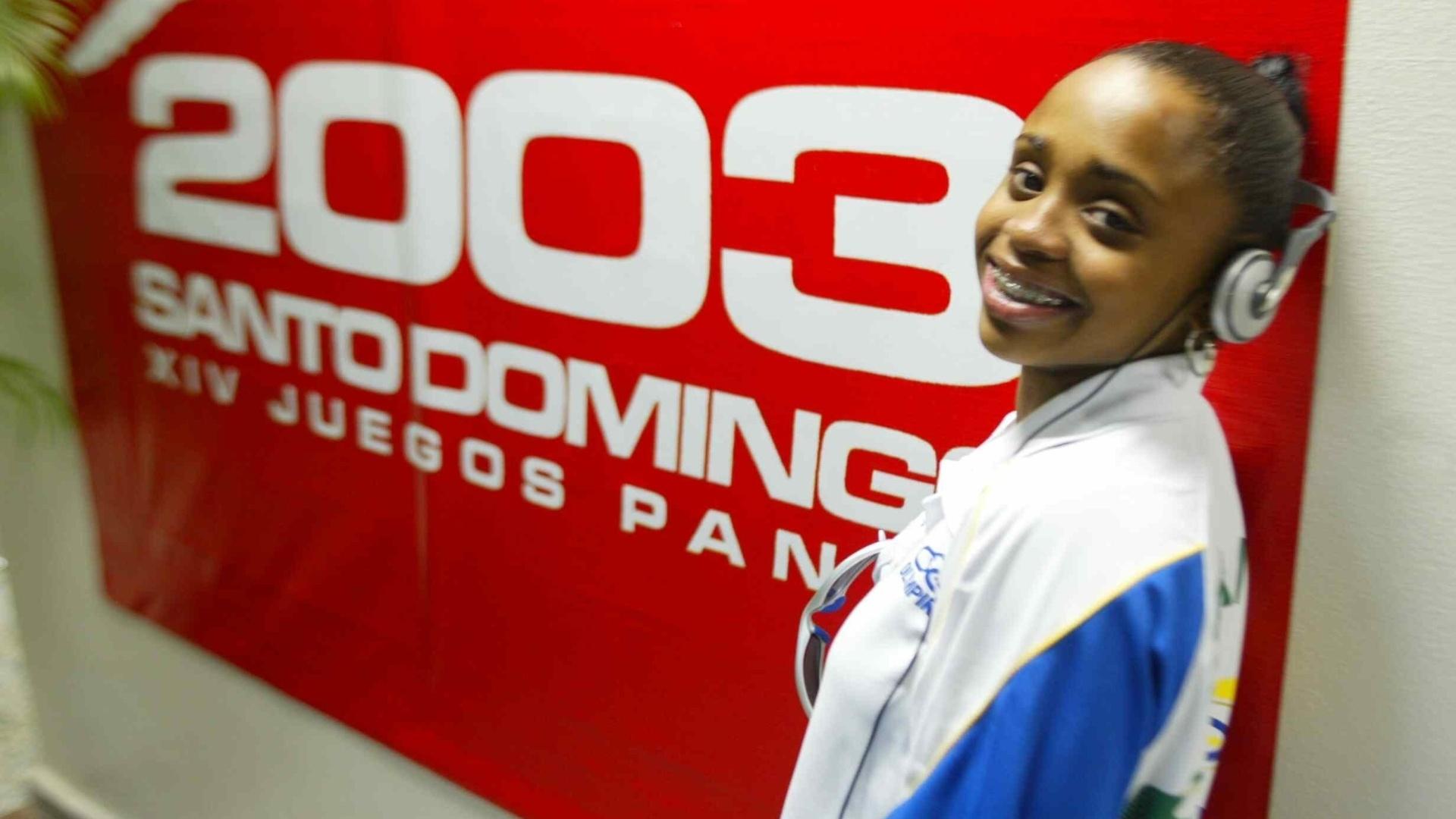 Daiane em Santo Domingo (DOM) para a disputa dos Jogos Pan-Americanos de 2003