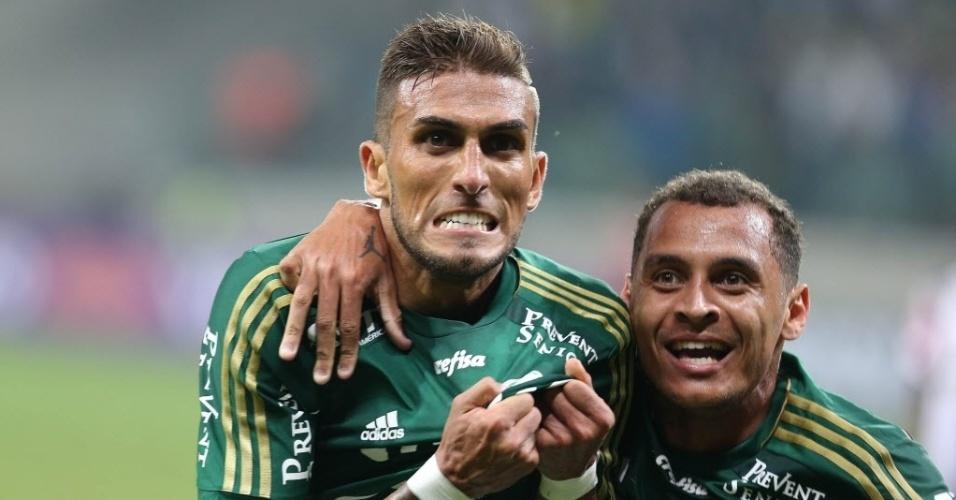 Rafael Marques comemora com raiva gol salvador que evitou a derrota do Palmeiras contra o Atlético-MG no Allianz Parque
