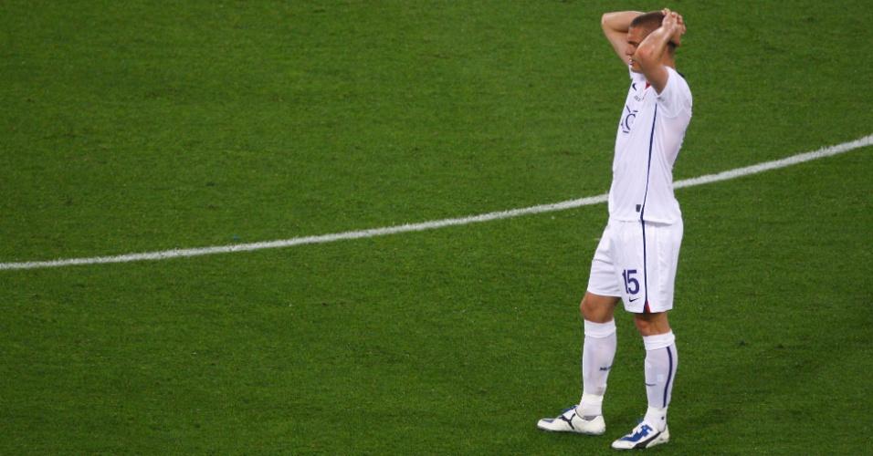 Cristiano Ronaldo lamenta gol sofrido pelo Manchester United na final da Liga dos Campeões 2008-9