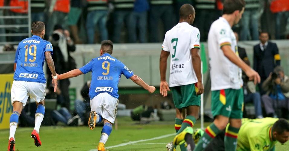 Cristaldo vira o jogo para o Palmeiras contra o Sampaio Correa