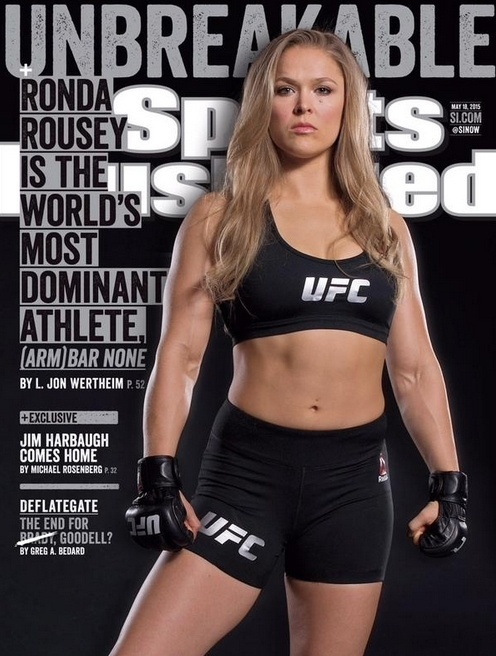 Ronda Rousey é capa da revista Sports Illustrated do dia 13 de maio de 2015