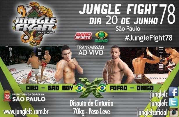 Ciro ?Bad Boy? (esq.) e Diogo ?Fofão? se enfrentarão no Jungle Fight 78, que será realizado no dia 20 de junho