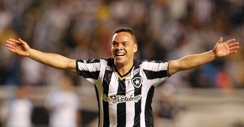 Lulinha comemora gol pelo Botafogo