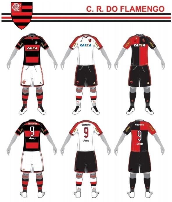 Uniformes do Flamengo para o Campeonato Brasileiro 2015