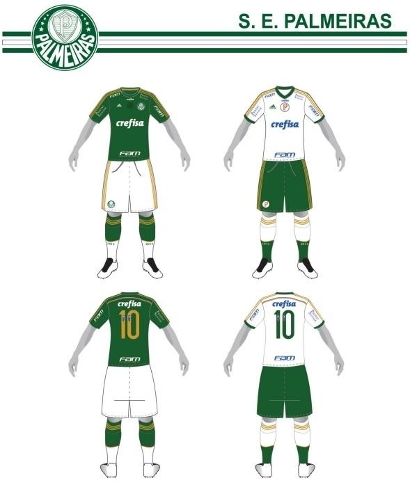 Uniformes do Palmeiras para o Campeonato Brasileiro 2015