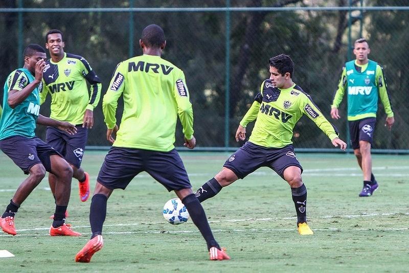 Guilherme treina normalmente na Cidade do Galo, mas só vai voltar ao time contra o Vasco